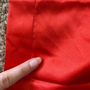 House of Harlow 1960 Skirts - House Of Harlow 1960 Chloe Red Satin Mini Skirt